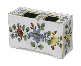 A LIVERPOOL DELFT FLOWER-BRICK