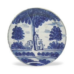 AN ENGLISH DELFT CHARGER OF AP