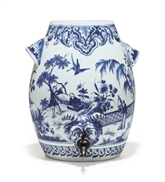 AN ENGLISH DELFT TWO-HANDLED C