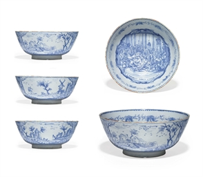 A LIVERPOOL DELFT PUNCH BOWL