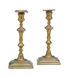 A PAIR OF GEORGE III BRASS CAN
