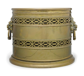 AN REGENCY BRASS BUCKET