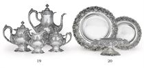 A SILVER THREE-PIECE DESSERT GARNITURE