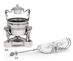 A SILVER CIGAR STAND AND LIGHT