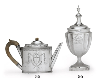 A SILVER TEAPOT OF SOUTHERN IN