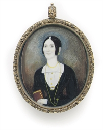 A Portrait Miniature of a Lady