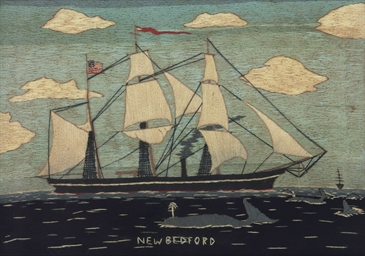 A SAILOR-MADE WOOLWORK PICTURE