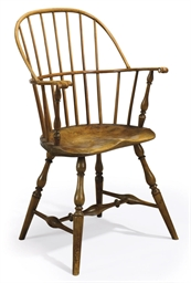 A WINDSOR BOW-BACK ARMCHAIR