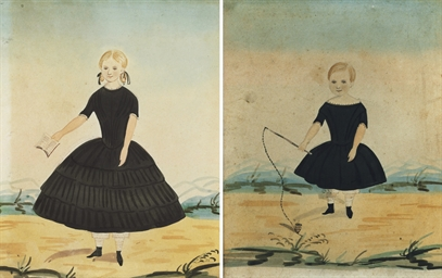 A Pair of Portraits depicting