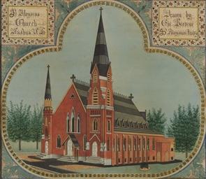 A View of St. Aloysius Church,