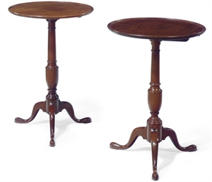 TWO SIMILAR CHIPPENDALE MAHOGA