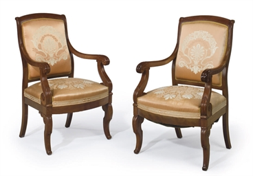 A PAIR OF CLASSICAL MAHOGANY A