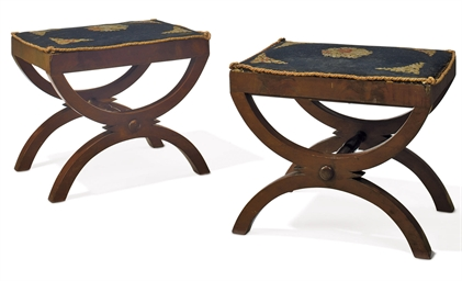 A PAIR OF CLASSICAL MAHOGANY C