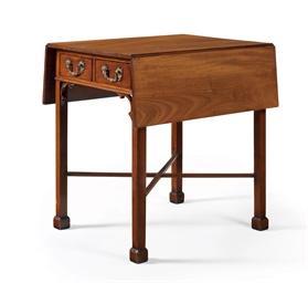 A CHIPPENDALE MAHOGANY THREE-D