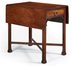 A CHIPPENDALE FIGURED MAHOGANY