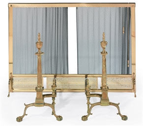 A PAIR OF CHIPPENDALE STYLE CA