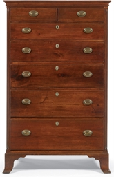 A Federal Walnut Tall Chest-of
