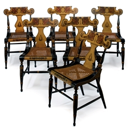 A SET OF SIX CLASSICAL BLACK,