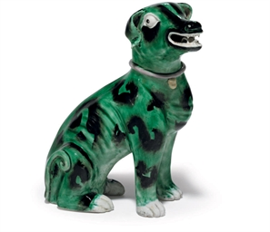 A GREEN-GLAZED HOUND