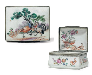 A SILVER-MOUNTED MEISSEN STYLE