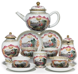A MEISSEN STYLE PART TEA SERVI