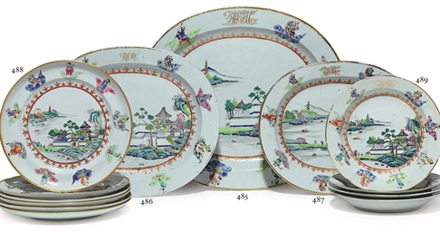 SIX PLATES FROM THE DEWITT CLI