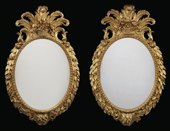 A PAIR OF GEORGE II GILTWOOD O