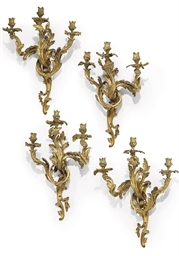 A SET OF FOUR FRENCH ORMOLU TH