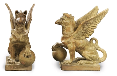 A PAIR OF ITALIAN TERRACOTTA G