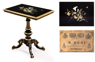AN EBONISED AND PARCEL-GILT CE