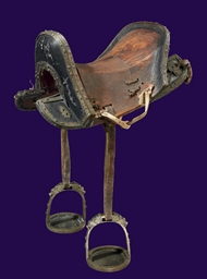 A Saddle with Iron Fittings an