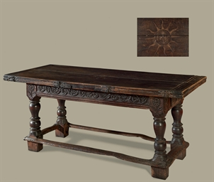 A NORTH EUROPEAN INLAID-OAK AN