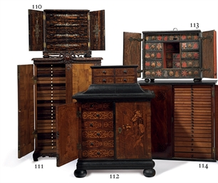 A REGENCY MAHOGANY, EBONIZED A