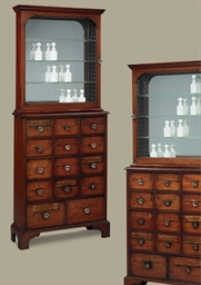 A PAIR OF ENGLISH MAHOGANY, BL