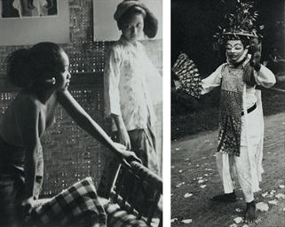 Balinese women; and a mask dan