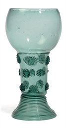 A GREEN GLASS ROEMER