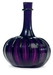 AN AMETHYST GLASS WINE BOTTLE