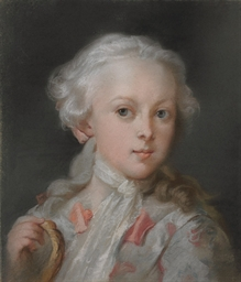 Portrait of a young boy, bust
