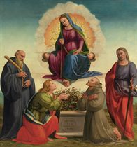 Madonna delle Cintola with Saints Benedict, Thomas, Francis and Julian