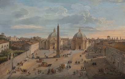 View of Piazza del Popolo, Rom