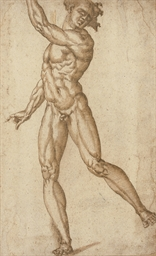 A standing male nude with his