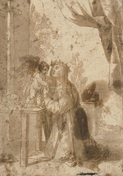 The Christ Child appearing to