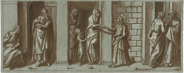 Saint John the Baptist taking