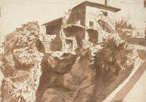 An Italian farmhouse on a rocky crag