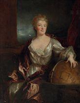 Portrait of Gabrielle-Émilie le Tonnelier de Breteuil, Marquise du Châtelet, three-quarter-length