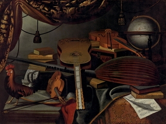 Musical instruments, books, mu