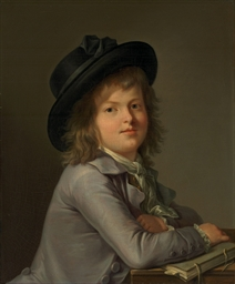 Portrait of a boy, in a black