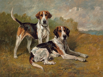 Two Hounds Resting