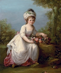 Portrait of a young girl, full
