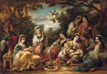 Oriental ladies at leisure